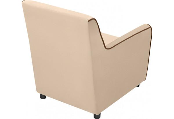 Кресло тканевое Флэтфорд бежевый/коричневый (Велюр) - фото 4