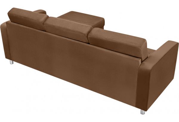 Диван тканевый угловой Камелот коричневый (Велюр) - фото 3