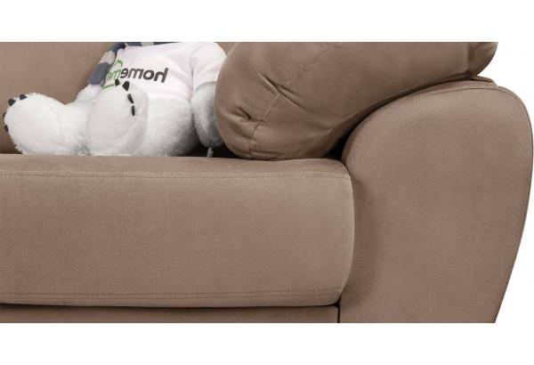 Диван тканевый угловой Эвита коричневый (Велюр, левый) - фото 9