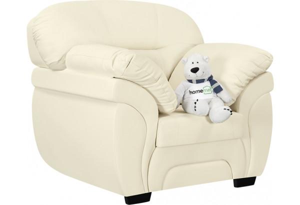 Кресло тканевое Бристоль молочный (Экокожа) - фото 1