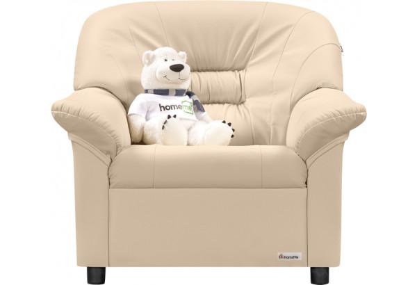Кресло кожаное Женева Бежевый (Кожаное изделие) - фото 2