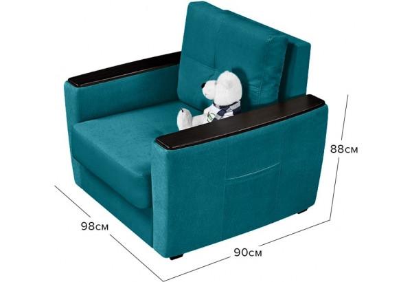 Кресло тканевое Майами бирюзовый (Велюр) - фото 2