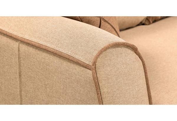 Диван тканевый прямой Флэтфорд бежевый/коричневый (Рогожка) - фото 9