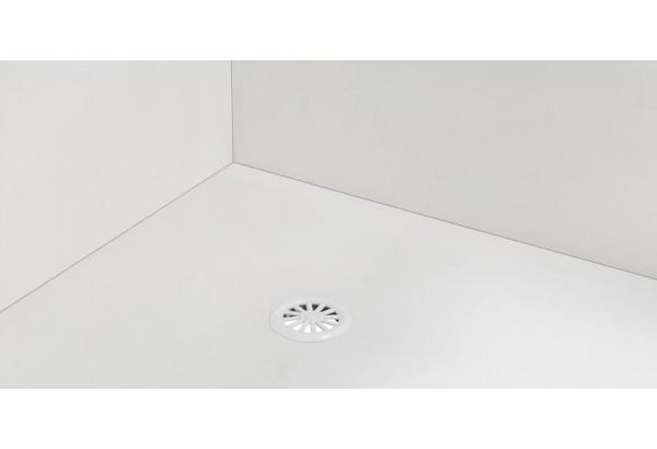 Диван тканевый прямой Корсо вариант №1 розово-серый (Велюр) - фото 7