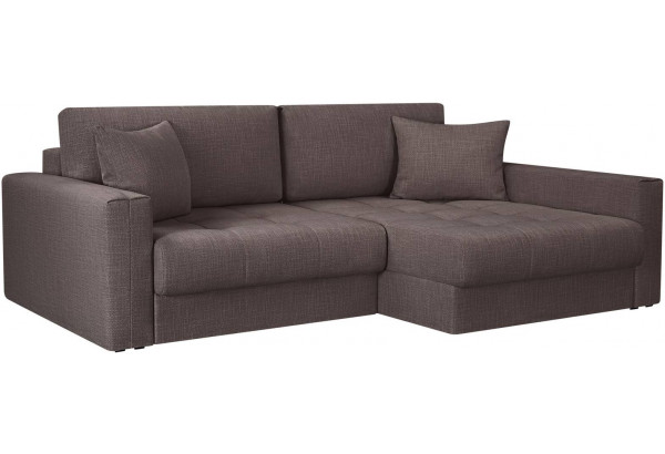 Модульный диван Брайтон вариант №2 графитовый (Рогожка) - фото 1