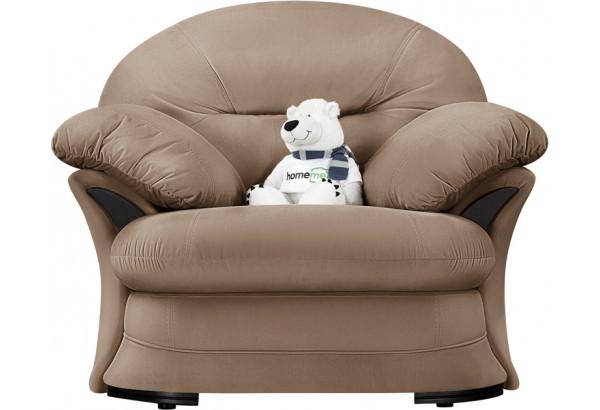 Кресло тканевое Ланкастер коричневый (Велюр) - фото 3