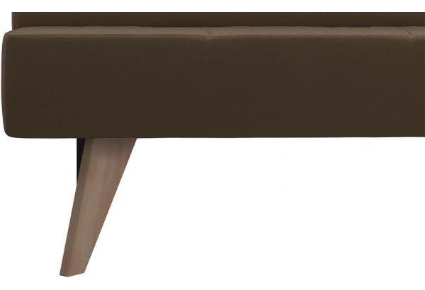 Диван тканевый прямой Касабланка тёмно-коричневый (Рогожка) - фото 8
