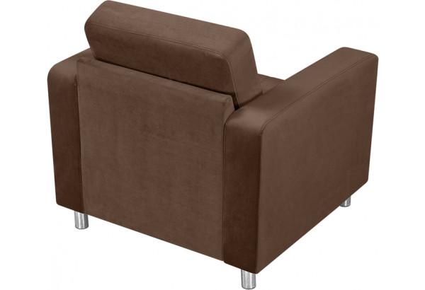 Кресло тканевое Камелот темно-коричневый (Велюр) - фото 3