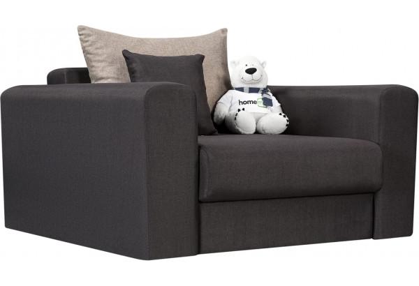 Кресло тканевое Медисон Вариант №2 80 см тёмно-серый (Рогожка) - фото 1