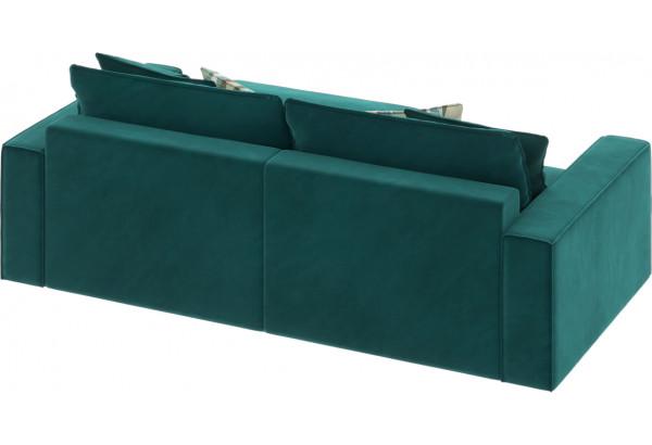 Диван тканевый угловой Корсо вариант №3 изумрудный (Микровелюр, правый) - фото 5