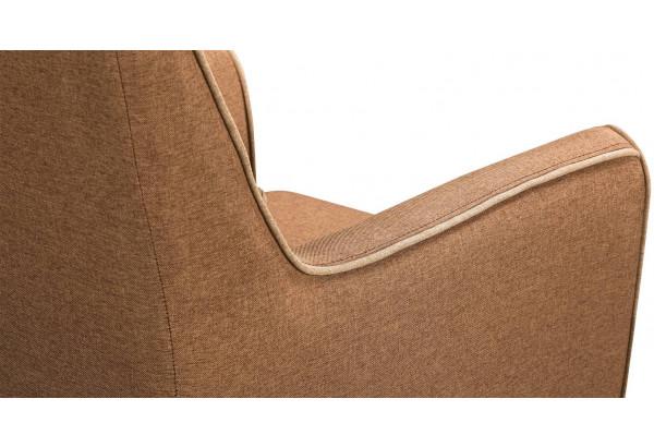 Кресло тканевое Флэтфорд коричневый/бежевый (Рогожка) - фото 5