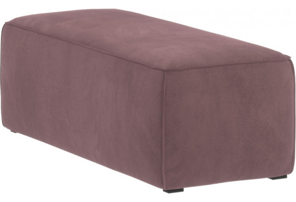 Банкетка Портленд розово-серый (Велюр) - фото 1