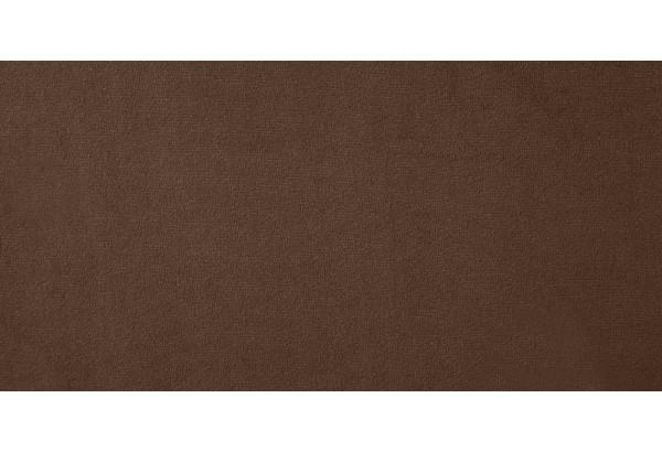 Диван тканевый угловой Ланкастер темно-коричневый (Велюр, левый) - фото 6