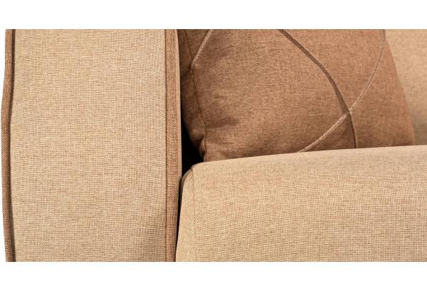Диван тканевый прямой Флэтфорд бежевый/коричневый (Рогожка) - фото 8