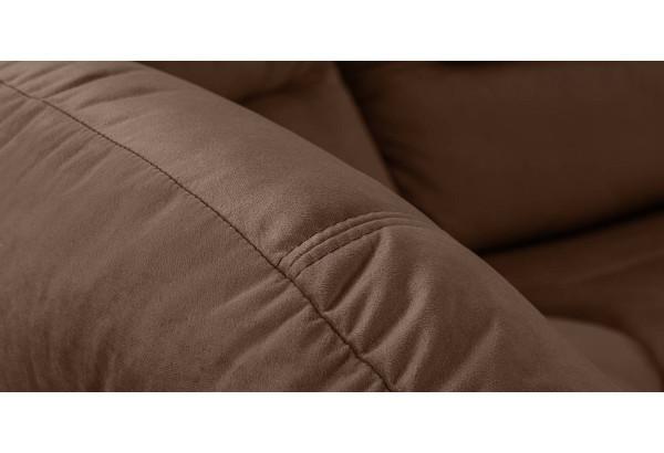 Диван тканевый угловой Ланкастер темно-коричневый (Велюр, левый) - фото 5