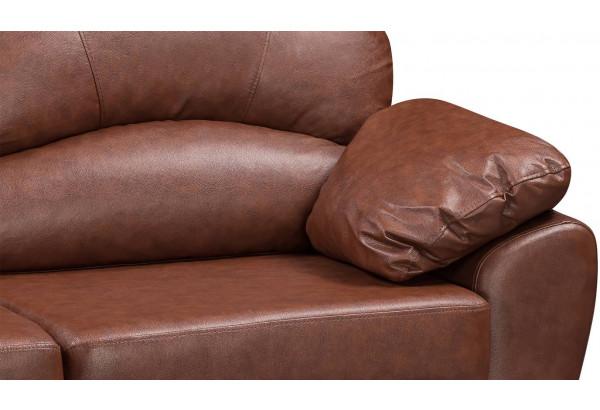 Диван кожаный угловой Эвита Коричневый (Кожаное изделие, левый) - фото 10