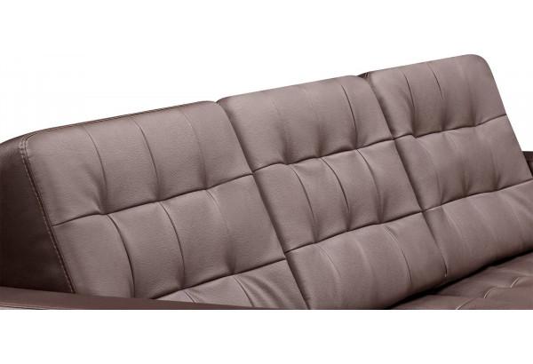 Диван кожаный угловой Камелот Шоколад - фото 9