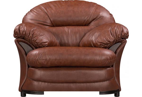 Кресло кожаное Ланкастер Коричневый (Кожаное изделие) - фото 3