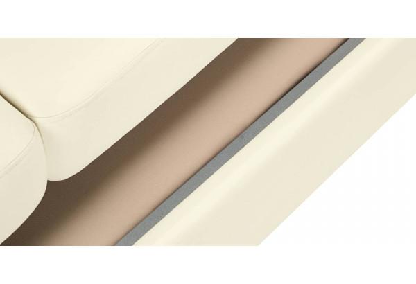 Диван тканевый прямой Эвита молочный (Экокожа) - фото 9