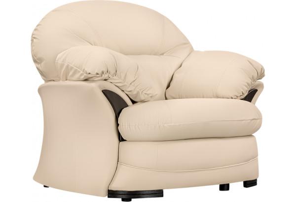 Кресло кожаное Ланкастер Бежевый (Кожаное изделие) - фото 1