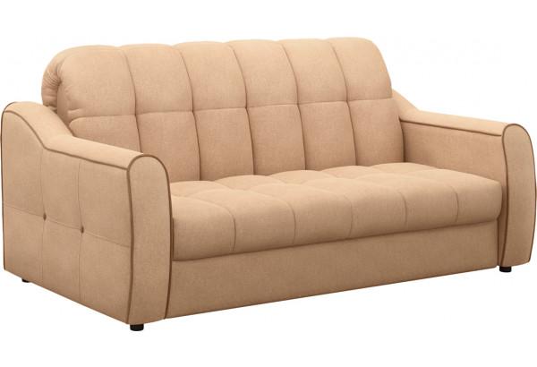 Диван тканевый прямой Флэтфорд-2 140 см бежевый/коричневый (Рогожка) - фото 1