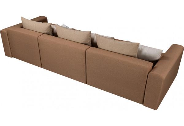 Диван тканевый прямой Медисон Вариант №1 коричневый (Рогожка) - фото 5
