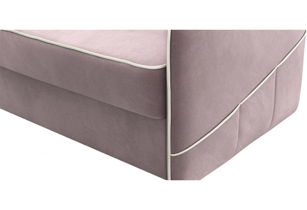 Диван тканевый угловой Слим светло-розовый (Велюр, левый) - фото 7