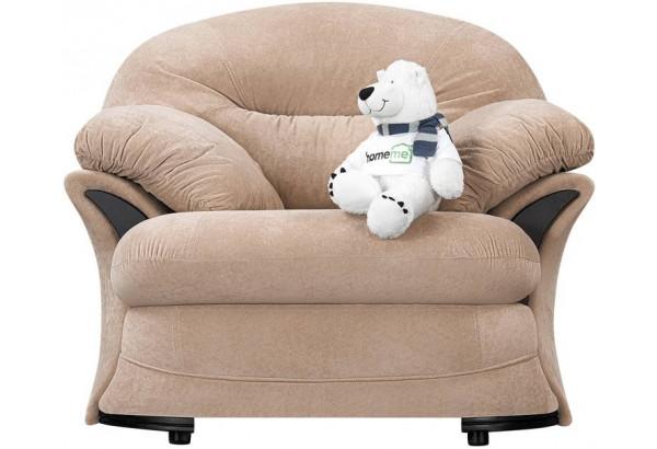 Кресло тканевое Ланкастер бежевый (Флок) - фото 3