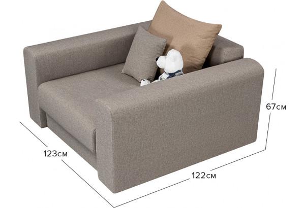 Кресло тканевое Медисон Вариант №2 80 см серый (Рогожка) - фото 2