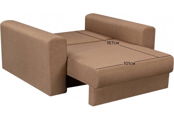 Кресло тканевое Медисон Вариант №1 100 см коричневый (Рогожка) - фото 2