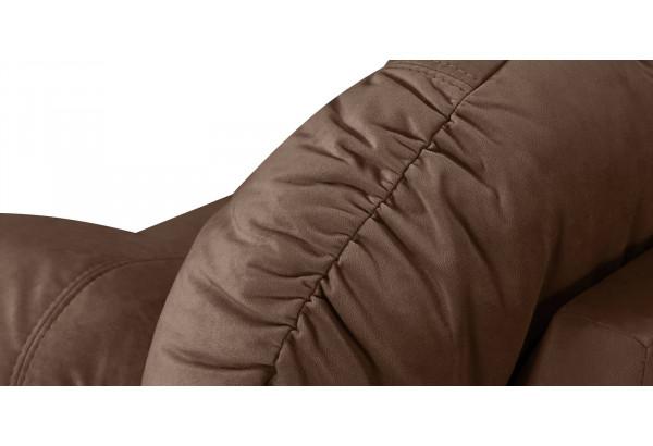 Диван тканевый прямой Ланкастер темно-коричневый (Велюр) - фото 5