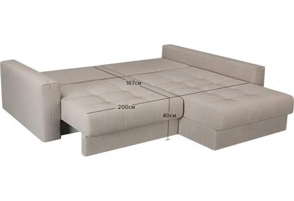 Модульный диван Брайтон вариант №2 бежевый (Рогожка) - фото 3