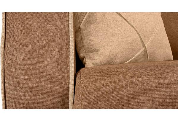Диван тканевый прямой Флэтфорд коричневый/бежевый (Рогожка) - фото 9