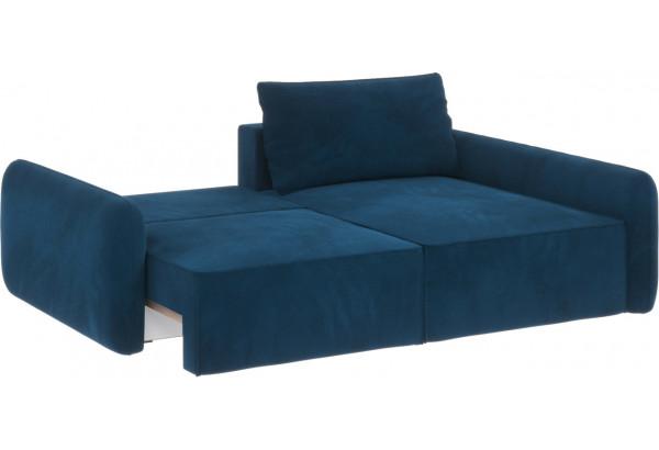 Диван тканевый угловой Портленд вариант №4 светло-синий (Микровелюр, правый) - фото 3