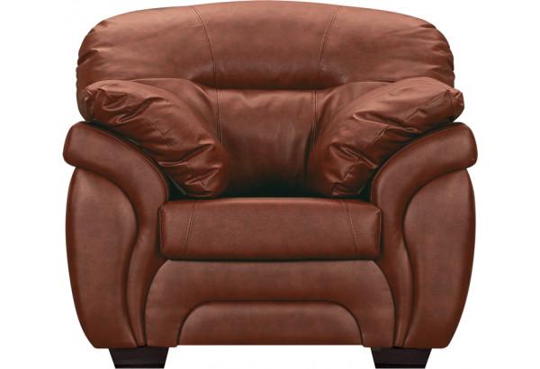 Кресло кожаное Бристоль Коричневый (Кожаное изделие) - фото 2