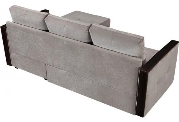 Диван тканевый угловой Валенсия-1 серый (Велюр) - фото 5