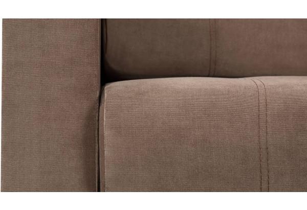 Диван тканевый прямой Атланта Люкс светло-коричневый (Велюр) - фото 10