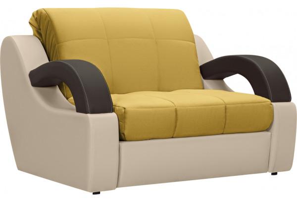 Кресло тканевое Мадрид оливковый (Велюр + Экокожа) - фото 1