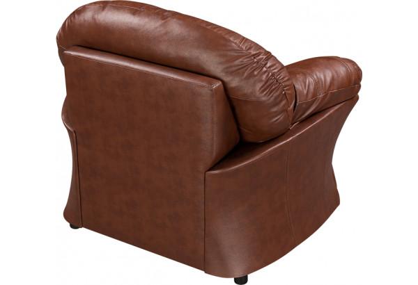 Кресло кожаное Ланкастер Коричневый (Кожаное изделие) - фото 4