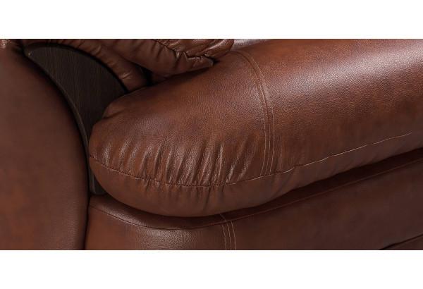 Кресло кожаное Ланкастер Коричневый (Кожаное изделие) - фото 7