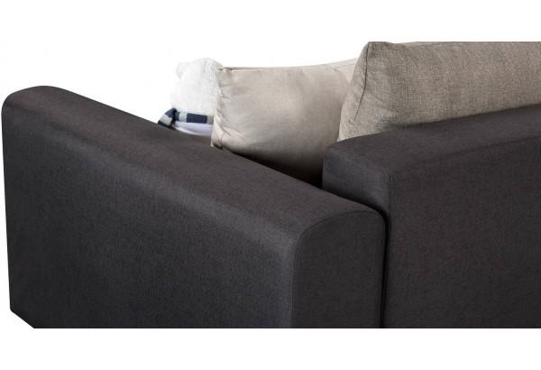 Диван тканевый прямой Медисон Вариант №1 тёмно-серый (Рогожка) - фото 7