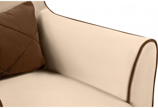 Кресло тканевое Флэтфорд бежевый/коричневый (Велюр) - фото 6