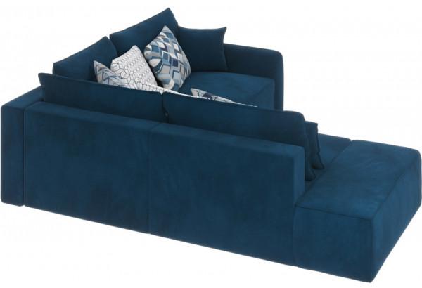 Диван тканевый угловой Портленд вариант №1 светло-синий (Микровелюр, правый) - фото 2