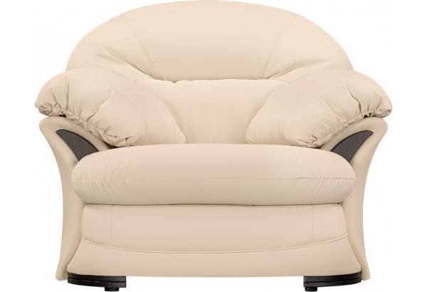 Кресло кожаное Ланкастер Бежевый (Кожаное изделие) - фото 3