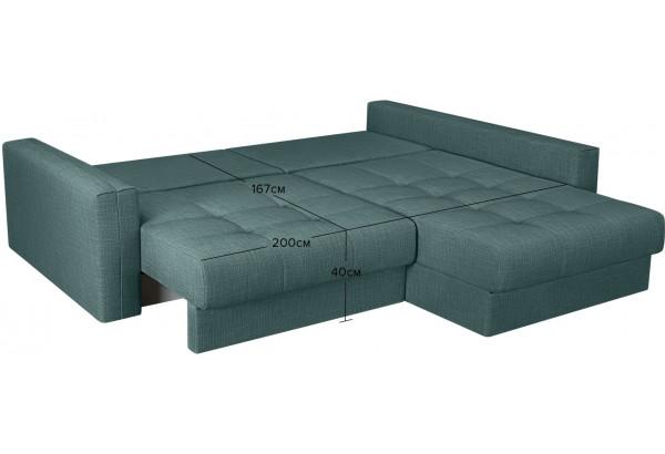 Модульный диван Брайтон вариант №2 голубой (Рогожка) - фото 3