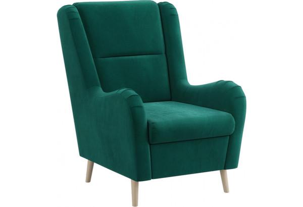 Кресло тканевое Грейс тёмно-зеленый (Велюр) - фото 1