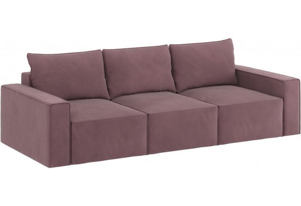Диван тканевый прямой Корсо вариант №2 Розово-серый (Велюр) - фото 2