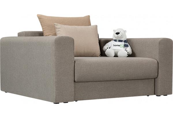 Кресло тканевое Медисон Вариант №1 100 см серый (Рогожка) - фото 1