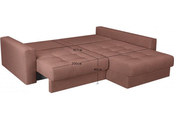 Модульный диван Брайтон вариант №2 розовый (Рогожка) - фото 3