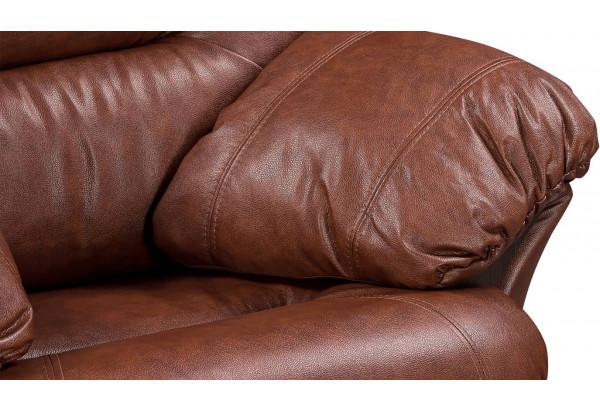 Кресло кожаное Ланкастер Коричневый (Кожаное изделие) - фото 6